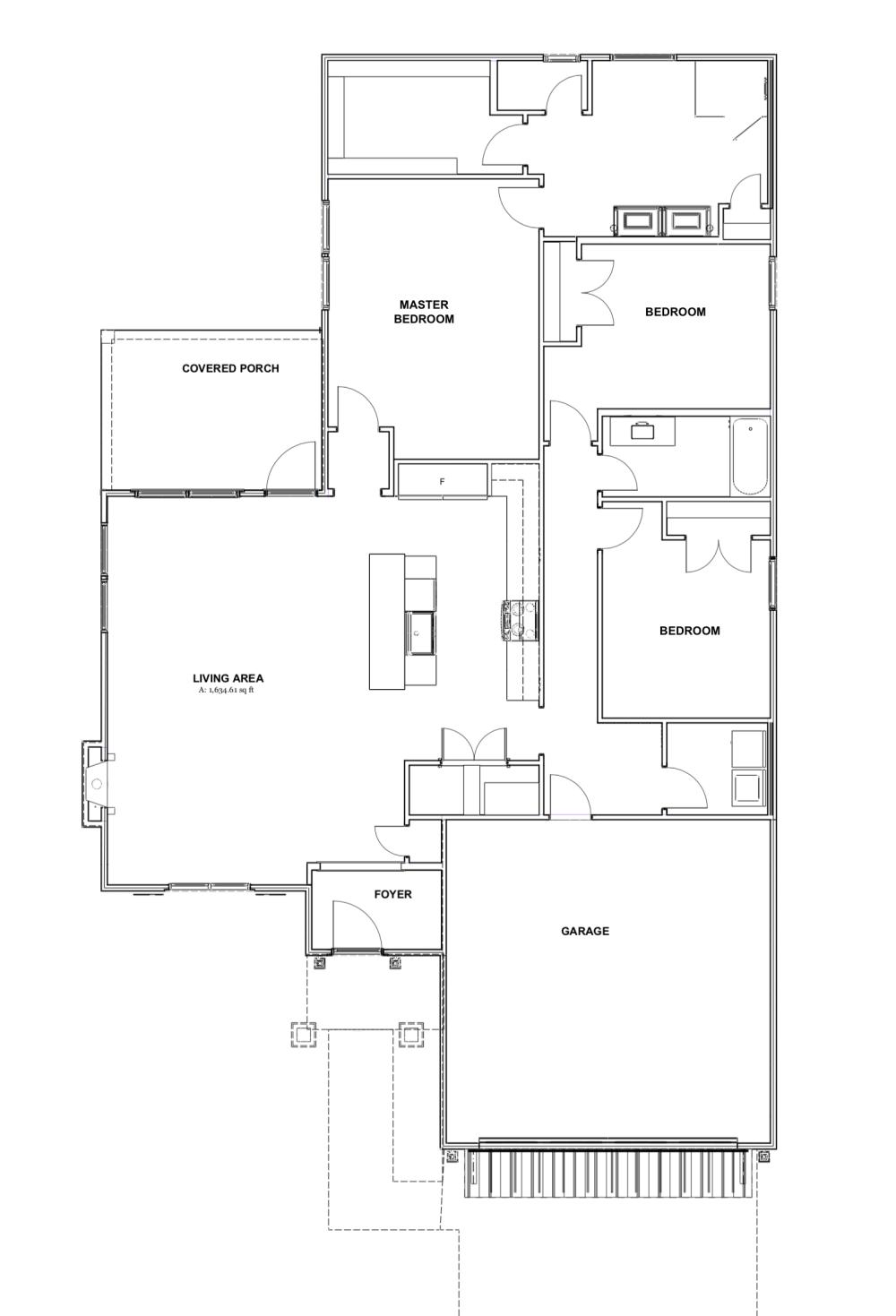Tyler - House design Farmhouse Floor Plan