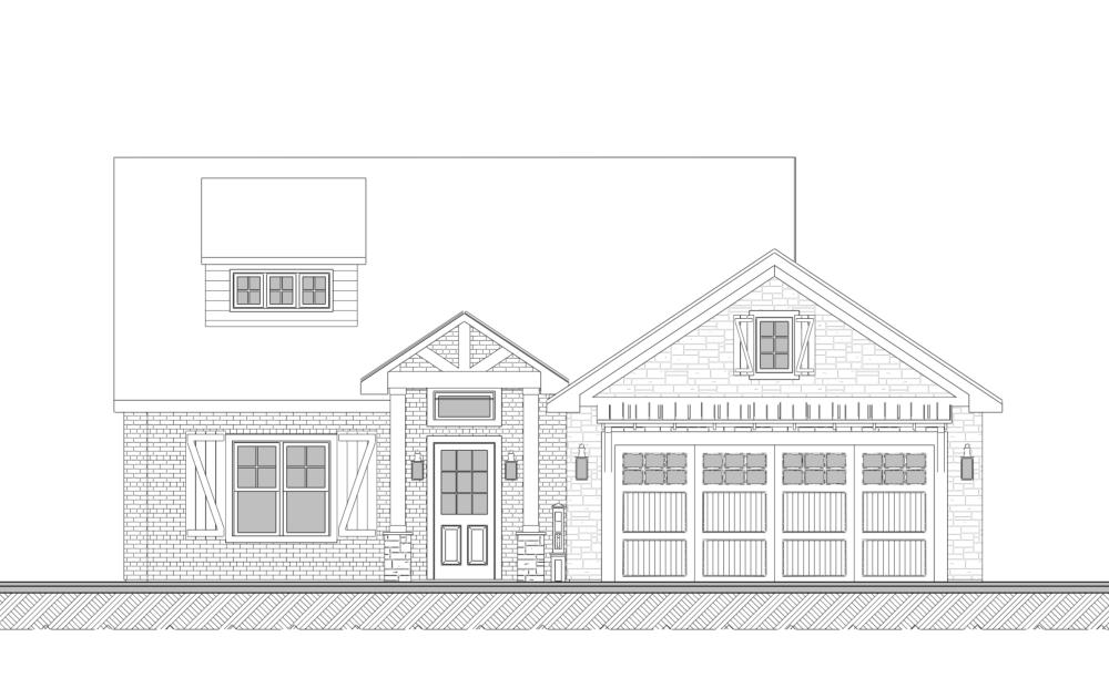 Farmhouse Floor Plan - Tyler - House design