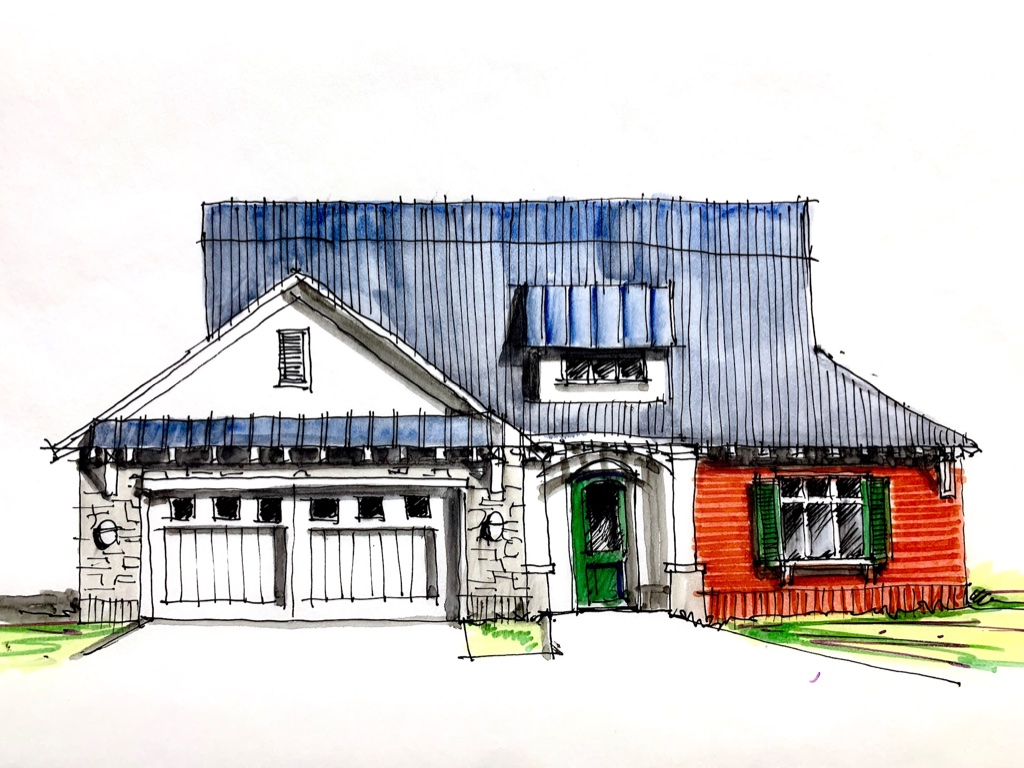 Farmhouse Renovation Sketches