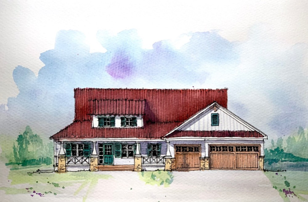 Craftsman House - Sketch Art