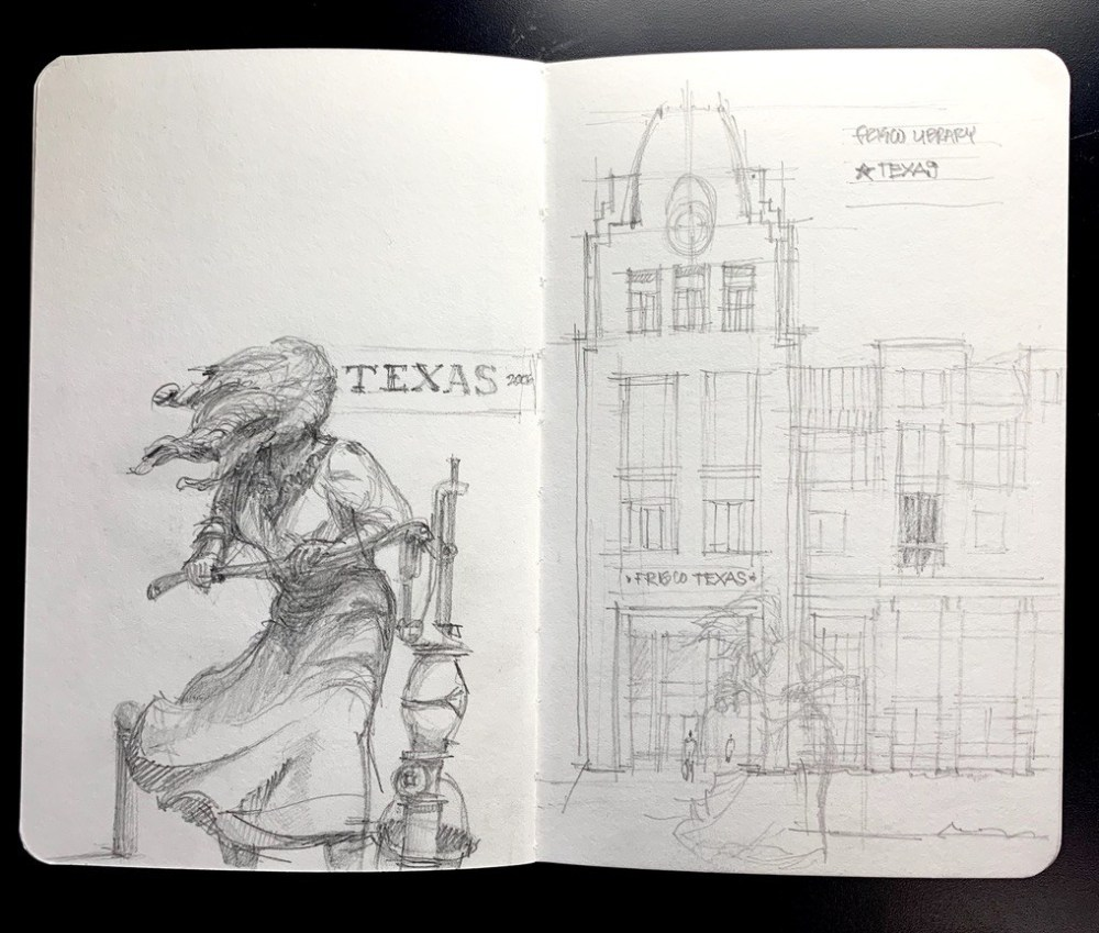 Frisco Downtown - Urbansketch
