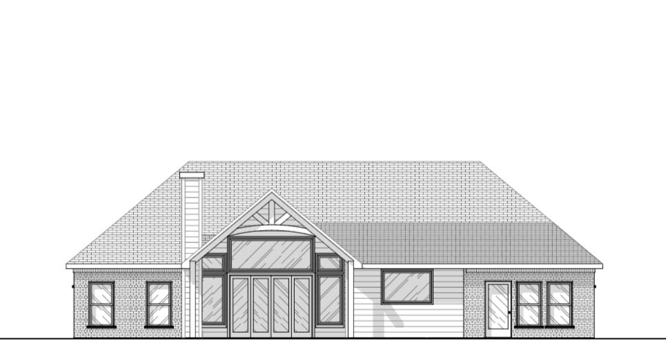 House Design Front elevation Brick Farmhouse