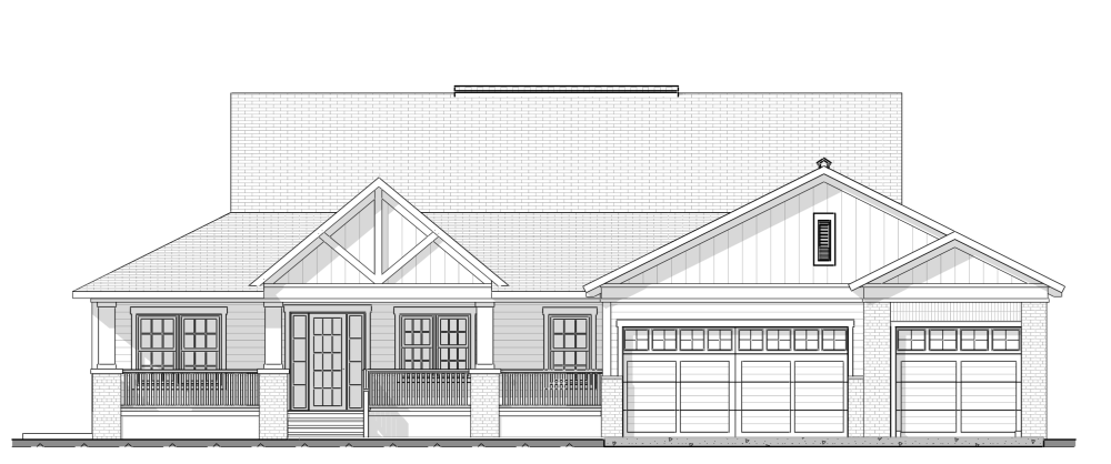 Farmhouse Front elevation plan