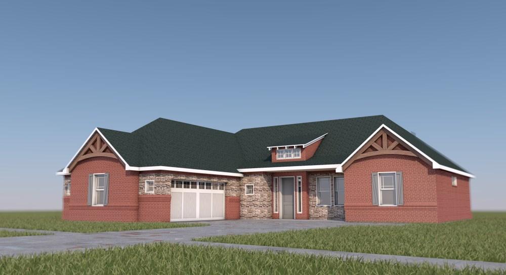 Brick Farmhouse Design