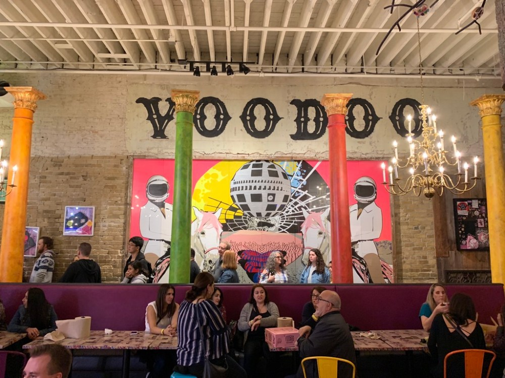 The Voodoo Doughnuts Interior