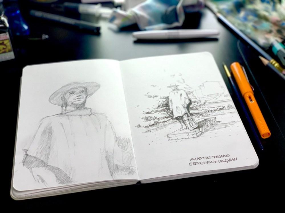 Sketchbook Stevie Ray Vaughan