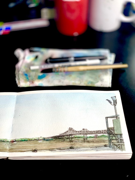 Mississippi River Sketch