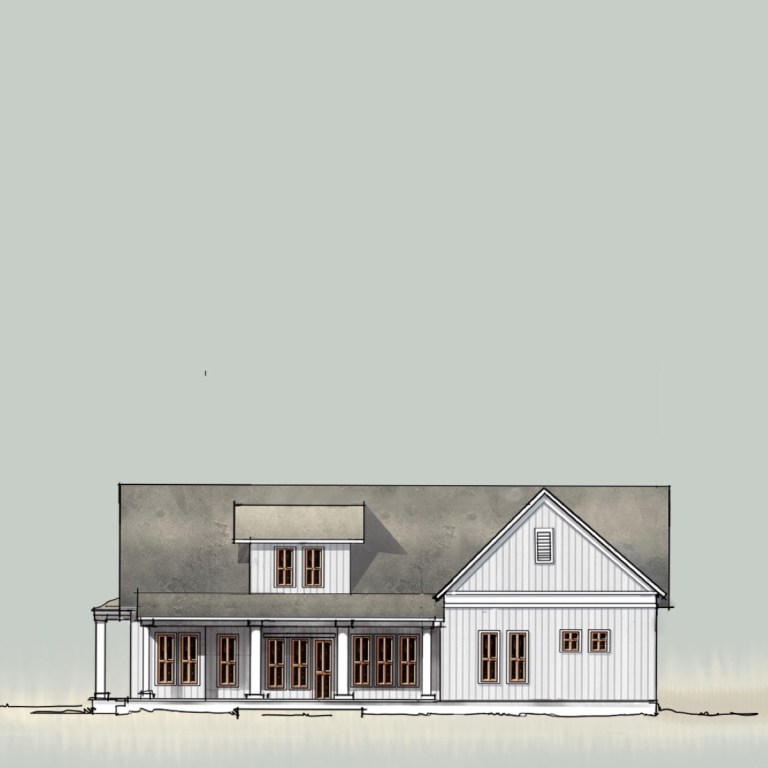 Country House Digital Sketch