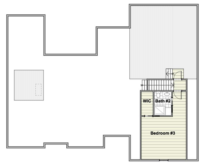 Urban House Upper Level Floor Plan