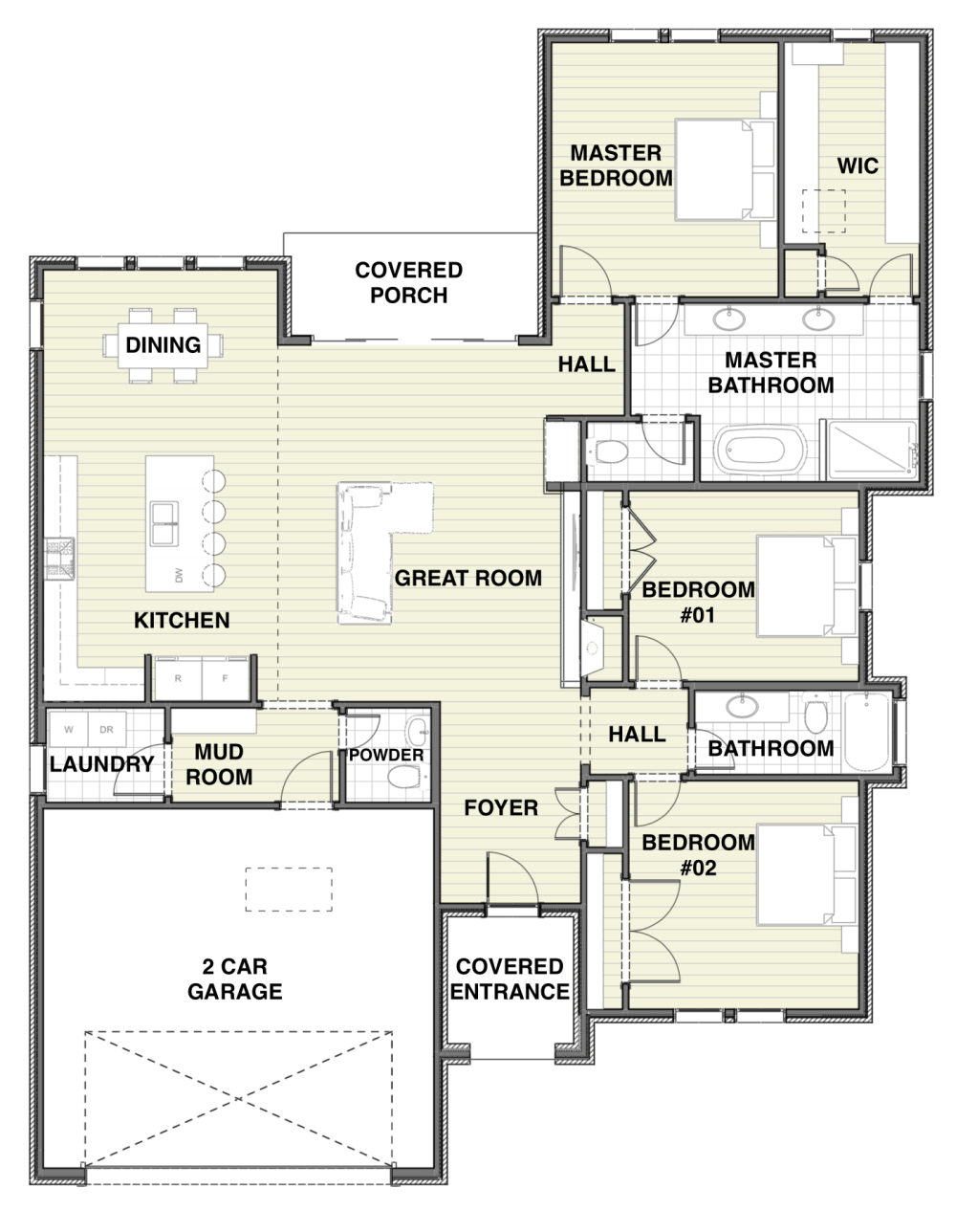 Farmhouse Design Floor Plan