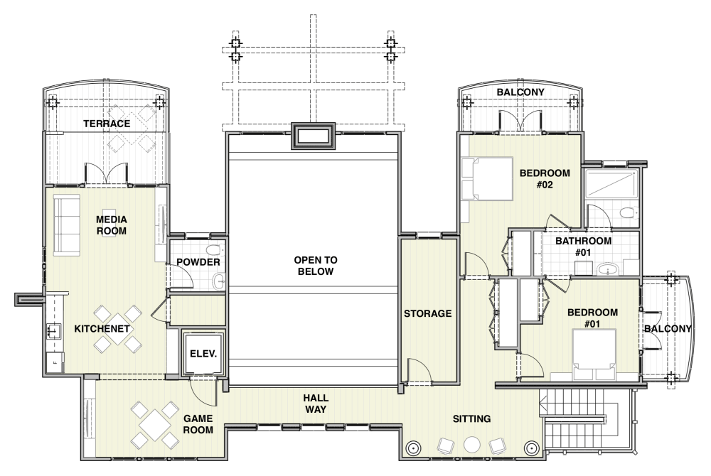 House Plan Upper level