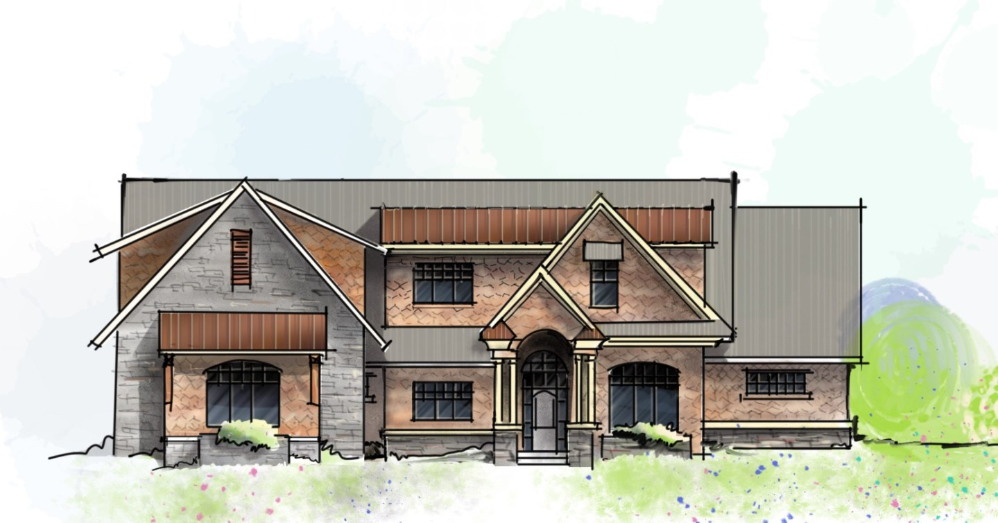 Craftsman Mountain House- Digital Sketch