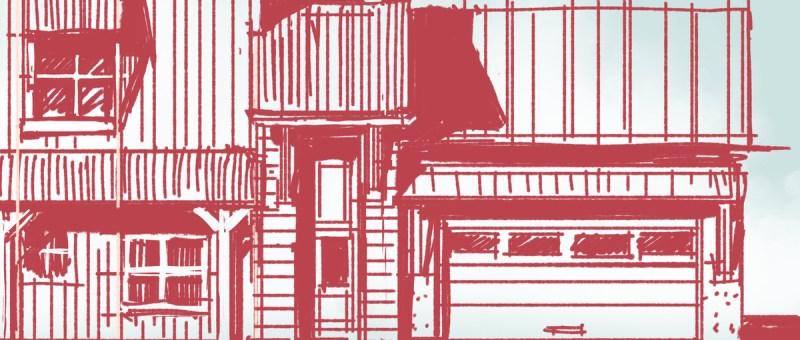 Rustic House Elevation Sketch