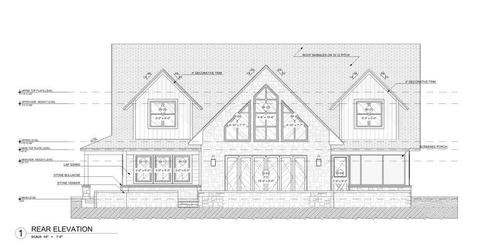 Lake House Design - Rear
