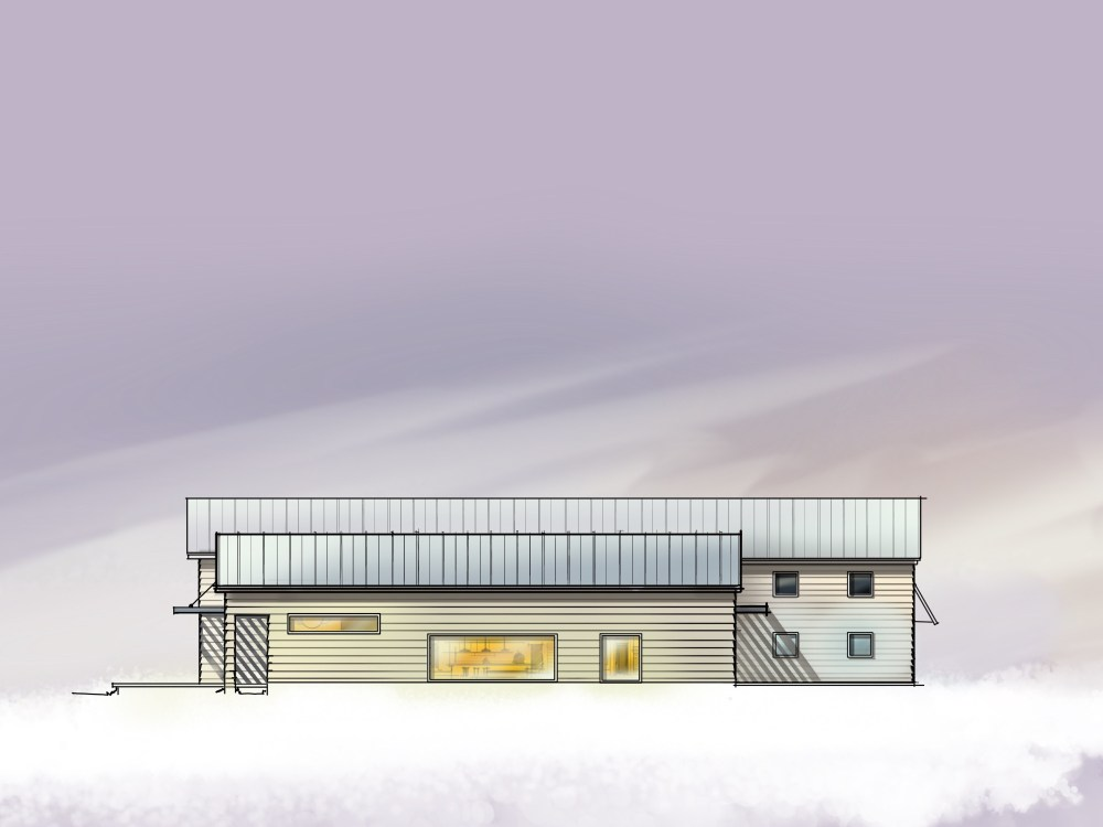Modern Barn House - Digital Sketch