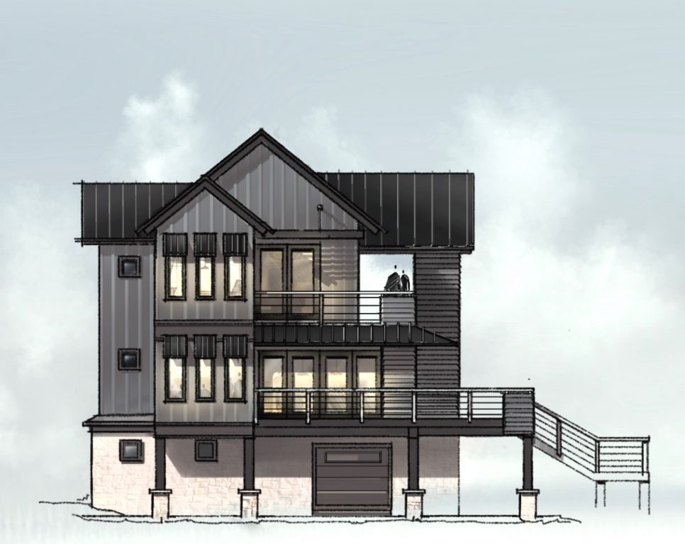 Black Lake House Elevataion Sketch