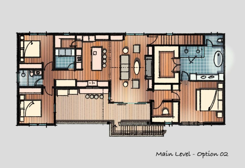 Small Country House Floor Plan Sketch