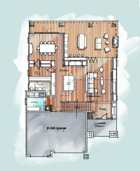Main Level Floor Plan Sketch