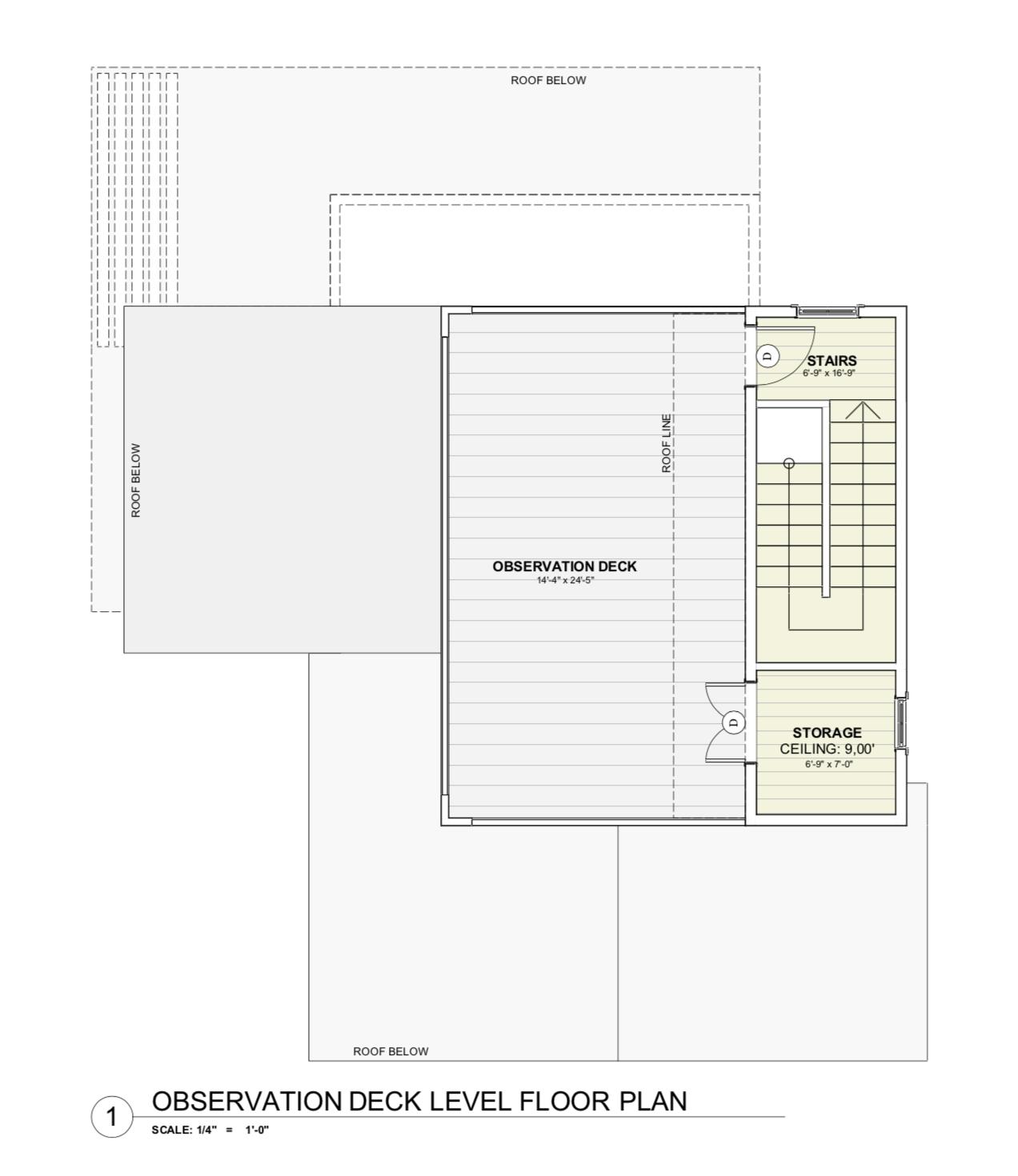 House Plan - Observation Level