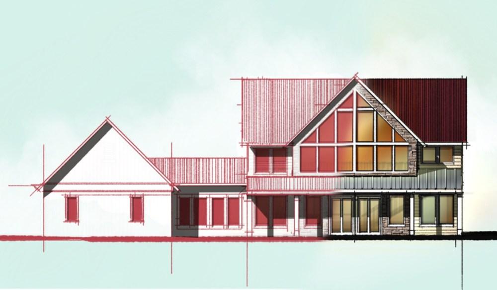 A-frame Lake House Elevation