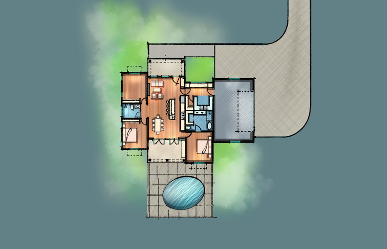 Brand new Farmhouse Floor plan Sketch