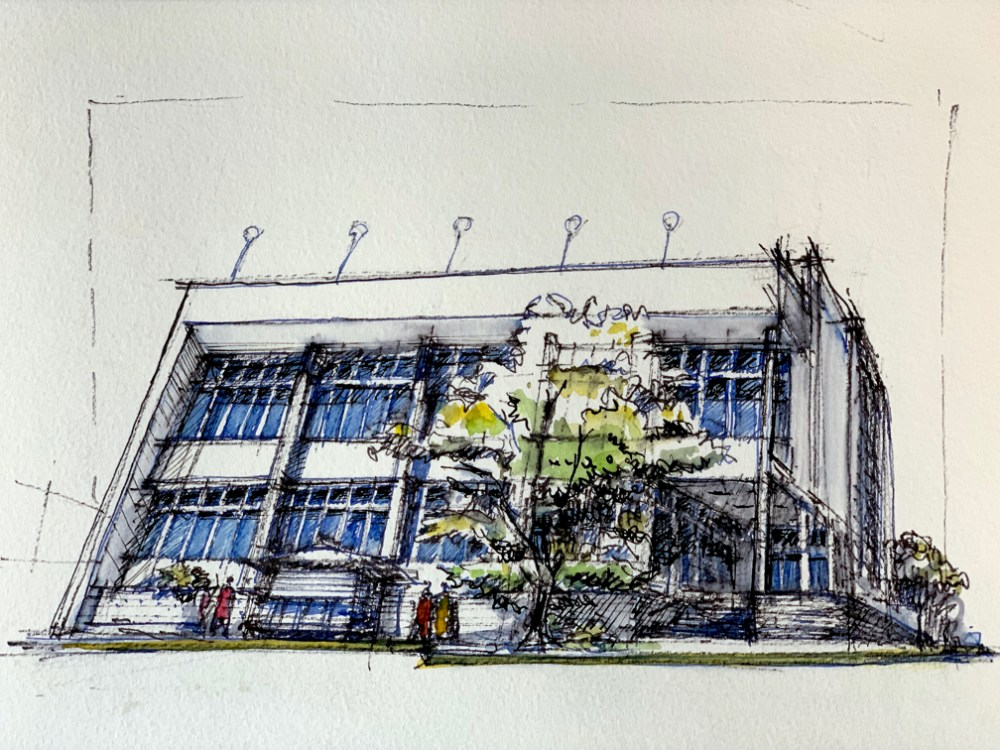Sketching the best modernist buildings