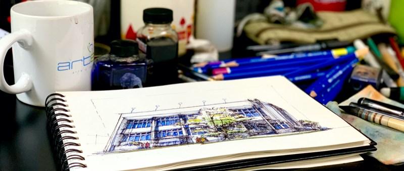 Sketching the best modernist buildings