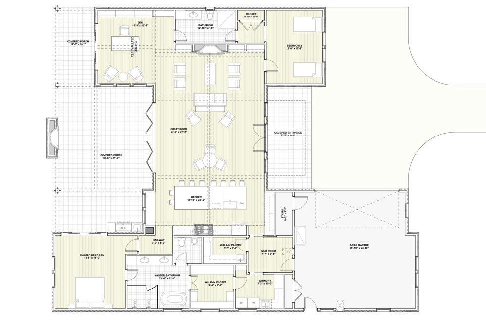 Modern Farmhouse - Floor Plan
