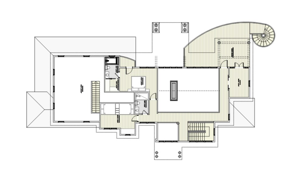 Unique and Modern Lakehouse Floor Plan