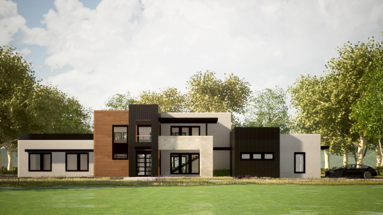 Contemporary House Plan Exterior