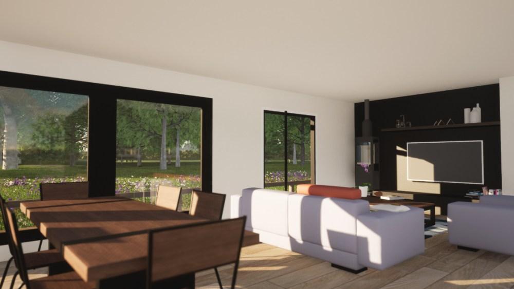 Minimalist Barn House Interior