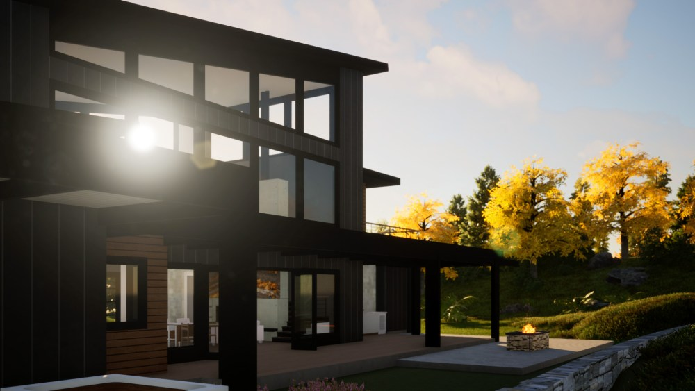 Contemporary House with an edge