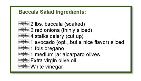 baccala salad ingredients