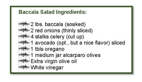 baccala salad ingredients