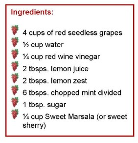 Grapes and vinegar