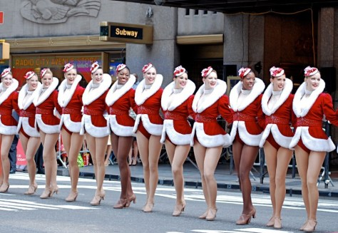 The Rockettes in front of Radio City Music Hall
