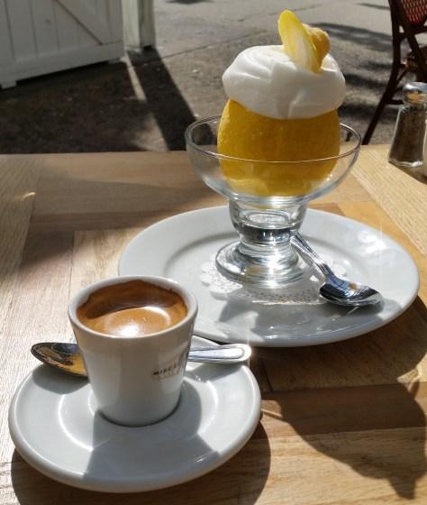 Coffee and Lemon Ice
