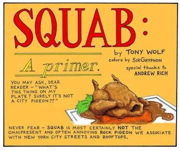New York Times - Squab: A Primer