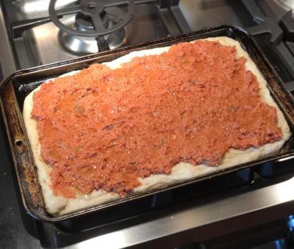 Sfincione - Sicilian Pizza