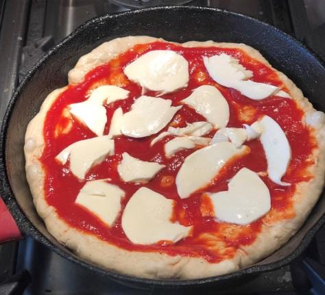 Cast Iron Pan Margarita Pizza