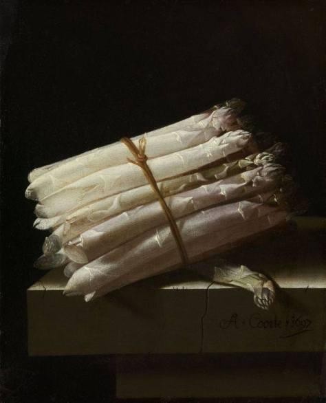Still Life with Asparagus, Adriaen Coorte