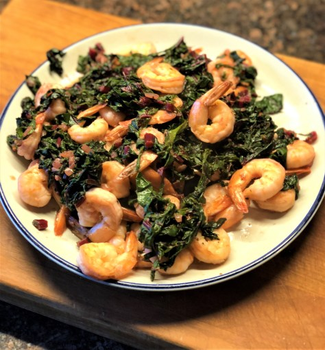 Shrimp with Chard and Ginger