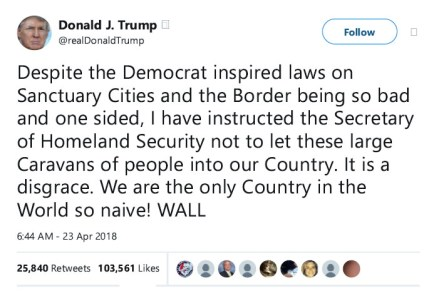 trump tweet apr 23 2018