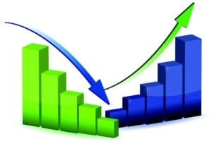 business graph, chart, diagram, bar, up, down