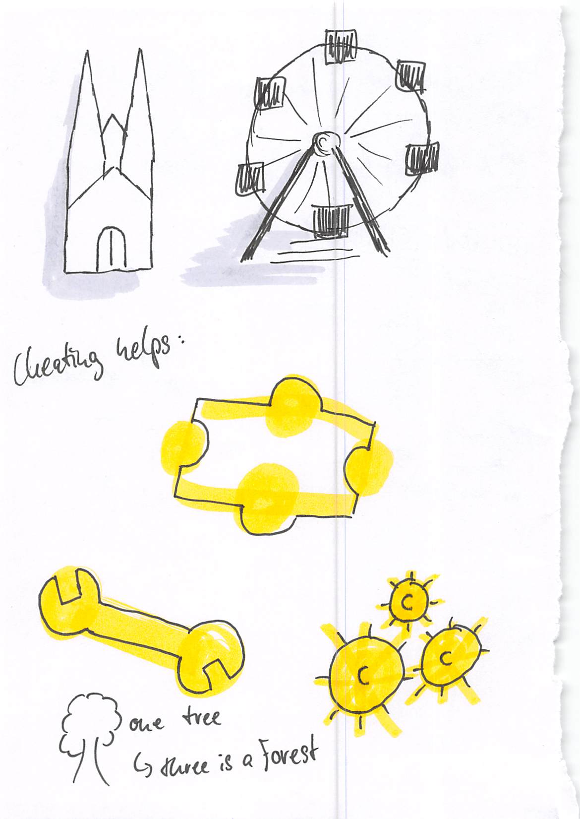 Visual Thinking Skills: Visualization Workshop - Cheat with outlines