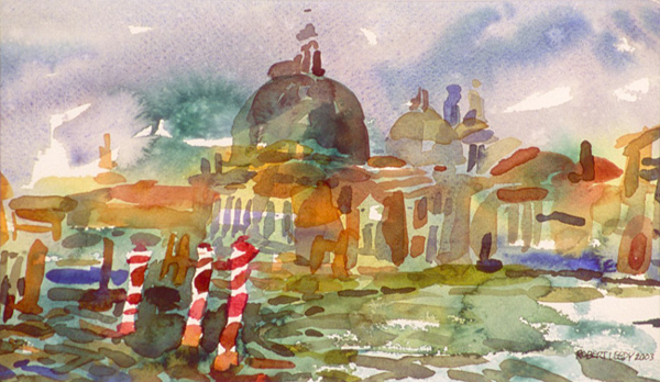 """""""Grand Canal I"""", by Robert Leedy, 2003 6.5 x 11.125 in., watercolor on paper, Collection of theArtist"""