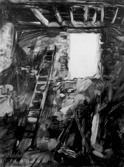 """""""il Catedrale"""", by Robert Leedy, 1993, charcoal on paper, Collection of theArtist"""