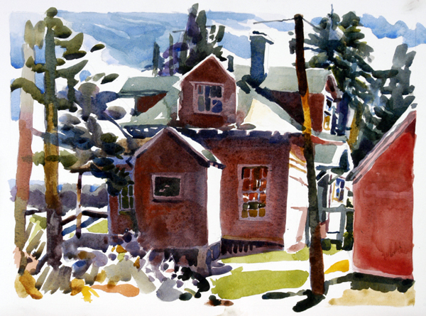 """""""Mainely for Vacation"""", by Robert Leedy, 2008, watercolor on Arches 140 lb. Hot Press paper"""