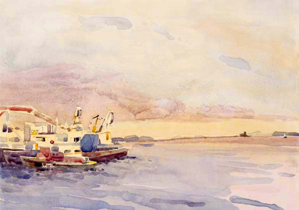"""""""View of Rockland Harbor"""", by Robert Leedy, 2008, archival giclee print on Hahnemühle William Turner 310 gsm paper"""