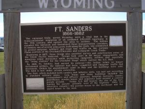 Fort Sanders Roadside Sign